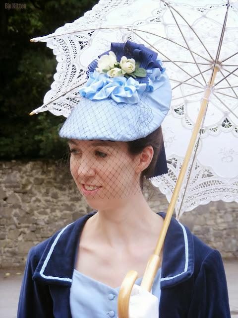 Laura Thorp, blue Victorian bustle dress, Castletown House