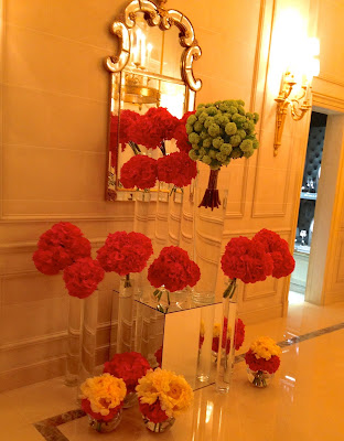 flowers at Four Seasons Paris