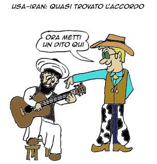 usa, iran, nucleare, accordo, satira, vignetta