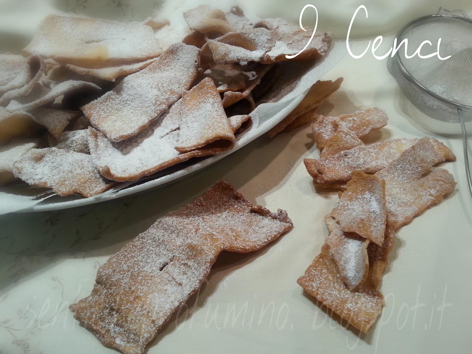 I Cenci, ricetta tradizionale di cucina toscana, chiacchere o frappe