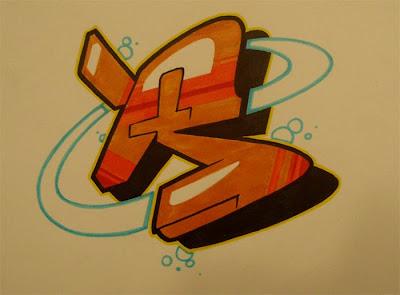 Graffiti Letters,Graffiti R,Graffiti Letter R