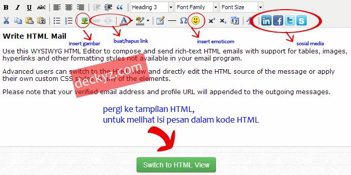 Cara edit pesan email bentuk HTML