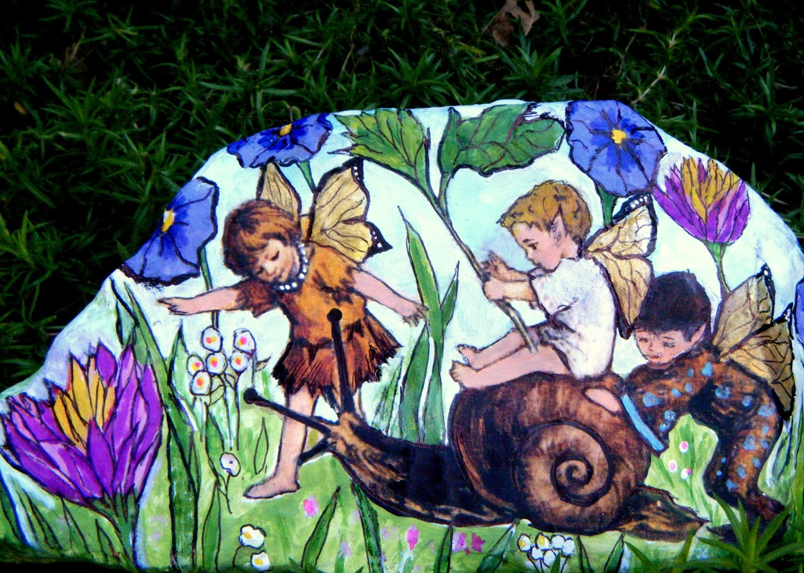 The Fairy Garden Painting by Mary Charles
