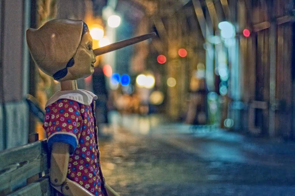 Wooden Pinocchio Gazing