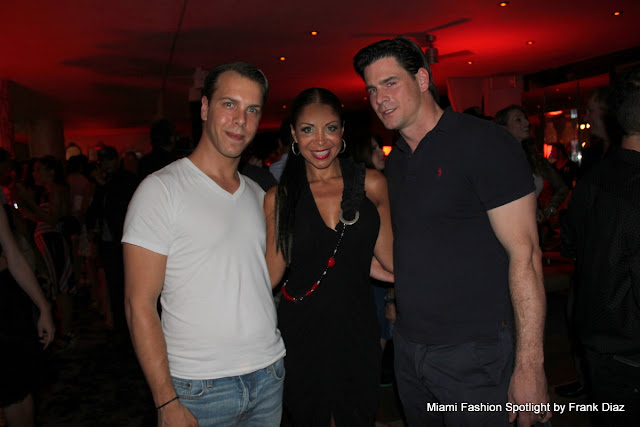 Lissette Rondon with Benno and Bojan, designers of Barraca Chic at Funkshion Swim Week in Miami Beach.