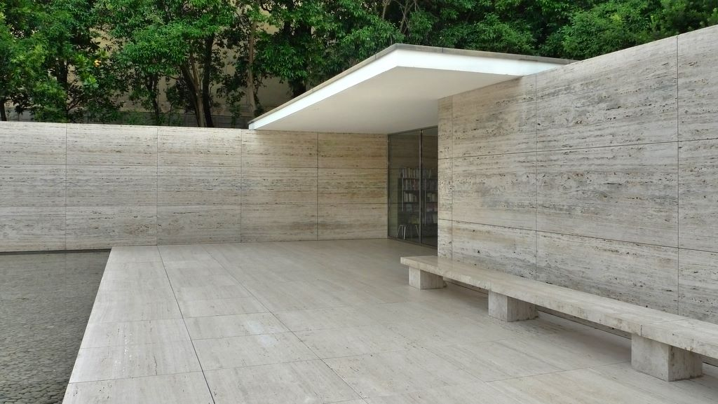 mies van der rohe barcelona pavilion modern design by. Black Bedroom Furniture Sets. Home Design Ideas
