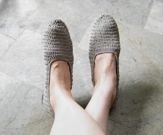 crochet abaca shoes