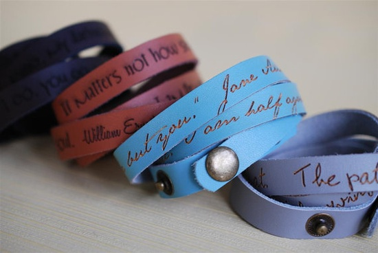 Wrist bands with your favorite quotes engraved on