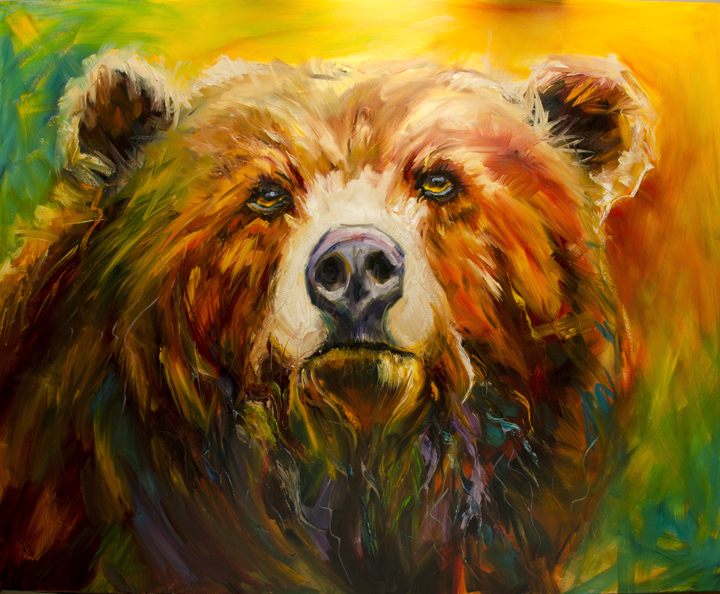... Of Utah: ARTOUTWEST Bear Wildlife Oil painting by Diane Whitehead: dailypaintersofutah.blogspot.com/2013/03/artoutwest-bear-wildlife...
