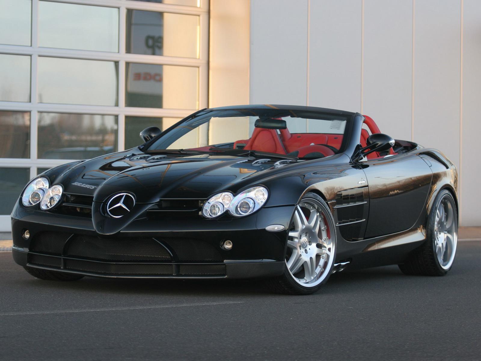 Mercedes Benz Slr Mclaren Black Convertible Mercedes Benz SLR McLa...
