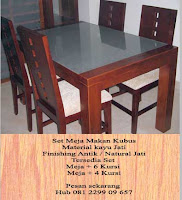 supplier mebel jati Jual mebel jati furniture minimalis Kursi Makan Minimalis