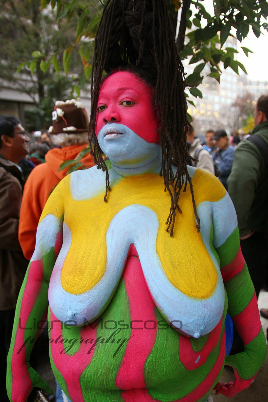 New York City body Art  Painting - big woman