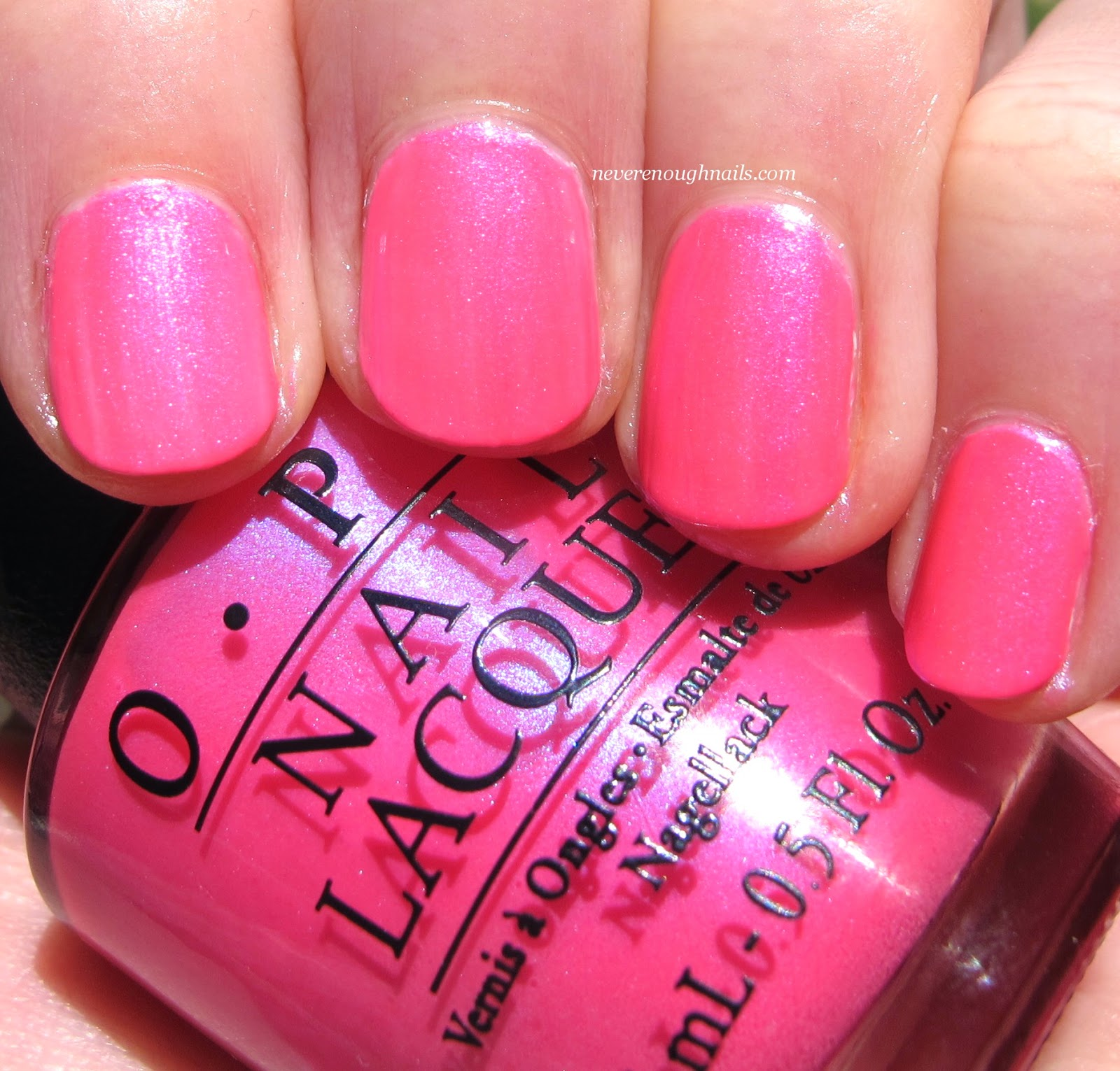 never enough nails: opi full size neons swatches!!