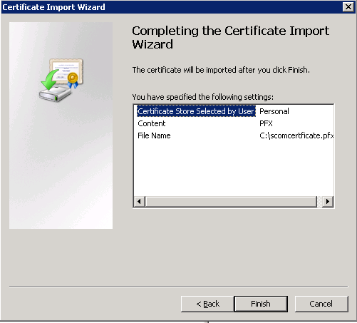 Kevin greene it blog using internal certificates with scom on this completes the certificate request using the scom certificate template and the certificate export import into your windows server local computer yelopaper Gallery