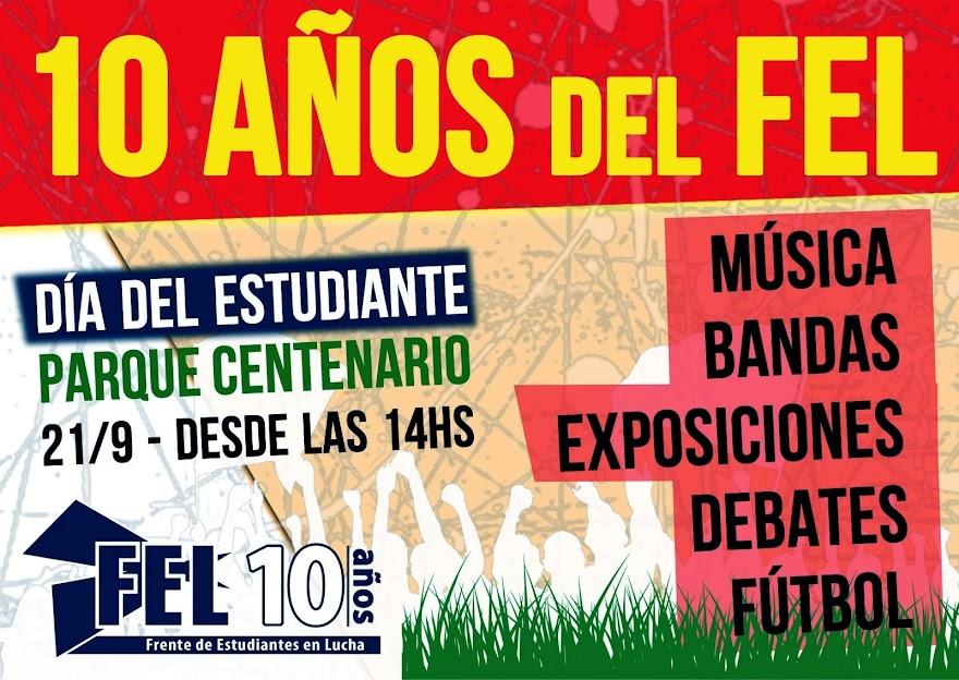 10 AÑOS DEL FEL - FESTEJO EN EL PARQUE CENTENARIO