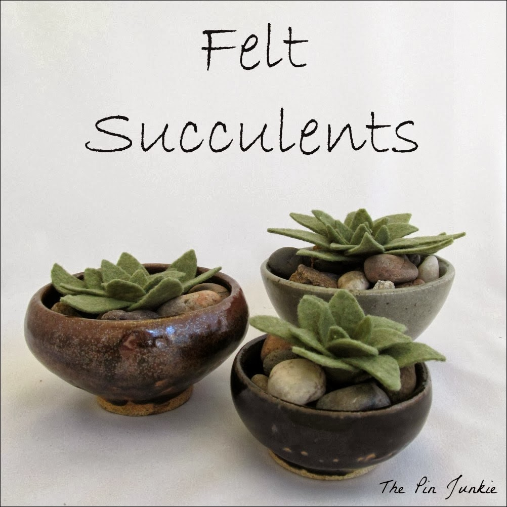 The Pin Junkie shared her Felt Succulents featured at One More Time Events.com #feltsucculents