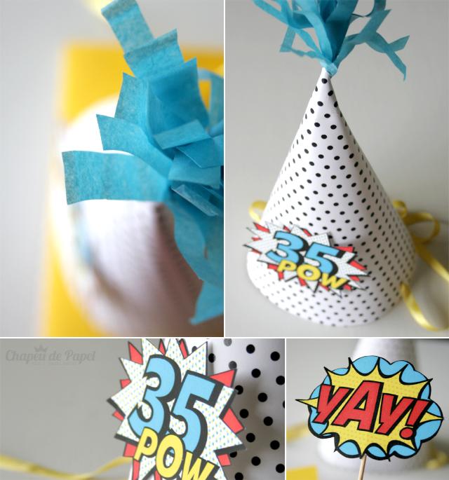 chapéu de papel aniversário