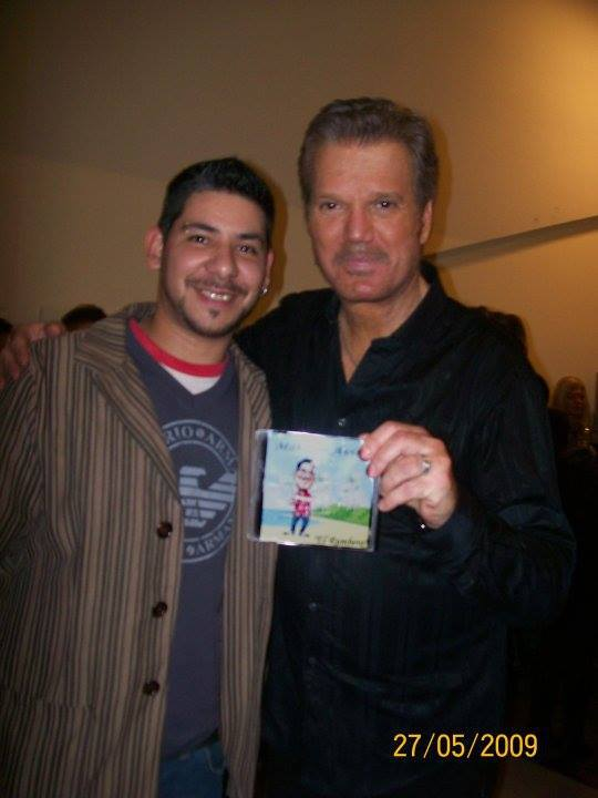 Junto a Willy Chirino