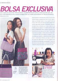 molde de bolsa na Revista Manequim
