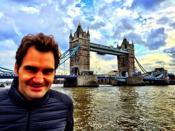 Roger Federer espera Relajado!!