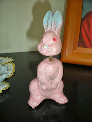 Vintage Bunny Bobblehead