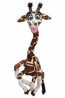 latex giraffe puppet