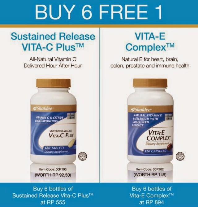 Double Promotion Disember Vitamin C dan Vitamin E Shaklee bagi yang mementingkan kecantikan kulit