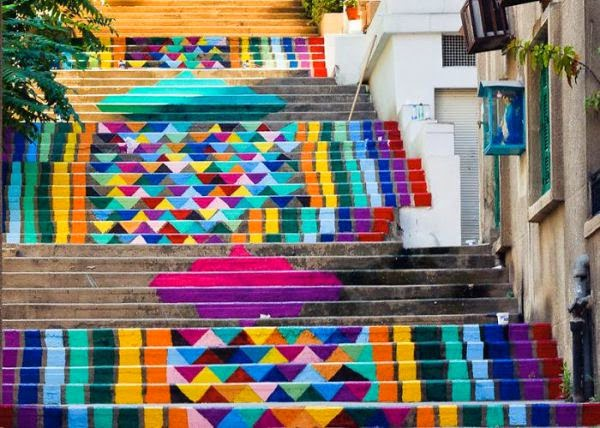 traditional stairs design - Beirut, Lebanon