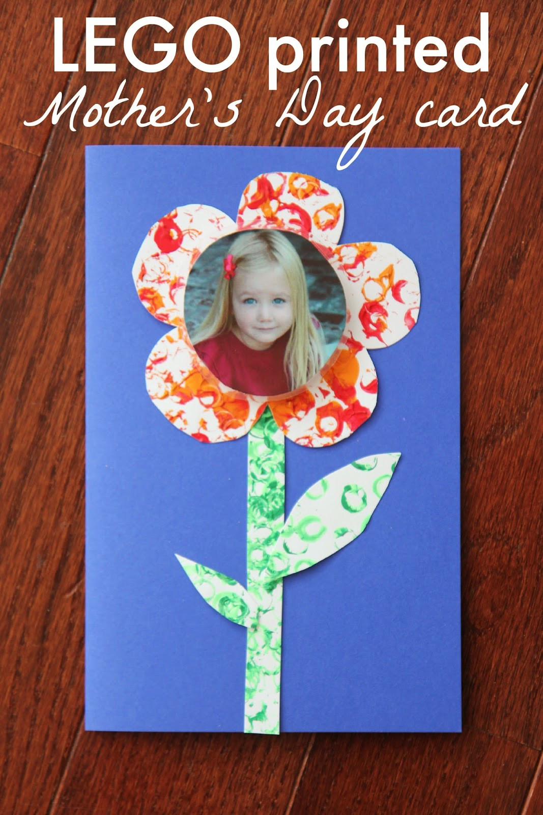 toddler approved lego printed photo mother u0027s day card
