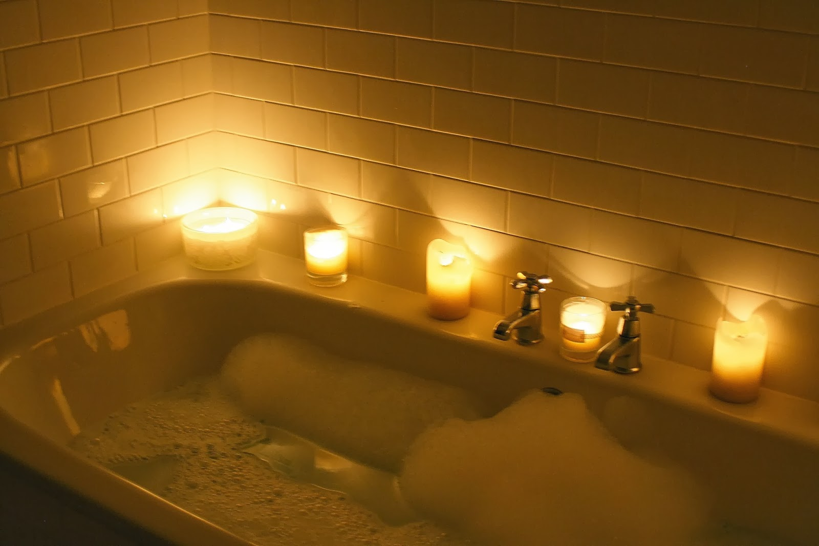 Relaxing In A Bubble Bath Relaxing Bath Candle