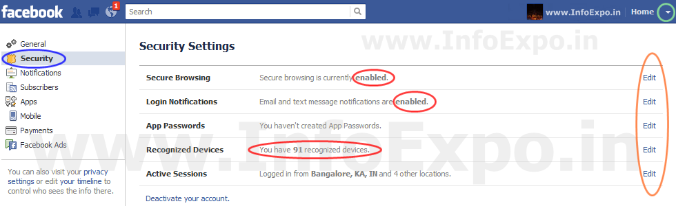 Facebook best Security options for your account protection from hackers