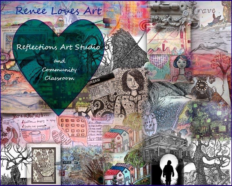 Renee Loves Art @ Reflections Art Studio and Community Classroom