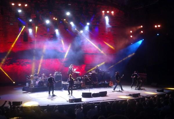 Alan Parsons i la seva banda recentment a Carcassonne. Foto: Roger Casero