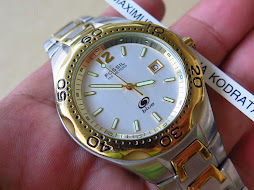 FOSSIL WHITE SILVER DIAL - TWO TONE