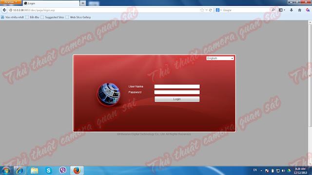 Hướng dẫn xem đầu ghi Hikvision trên trình duyệt web