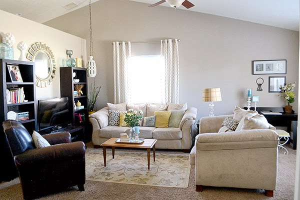 Living Room from the Medley of Golden Days Blog