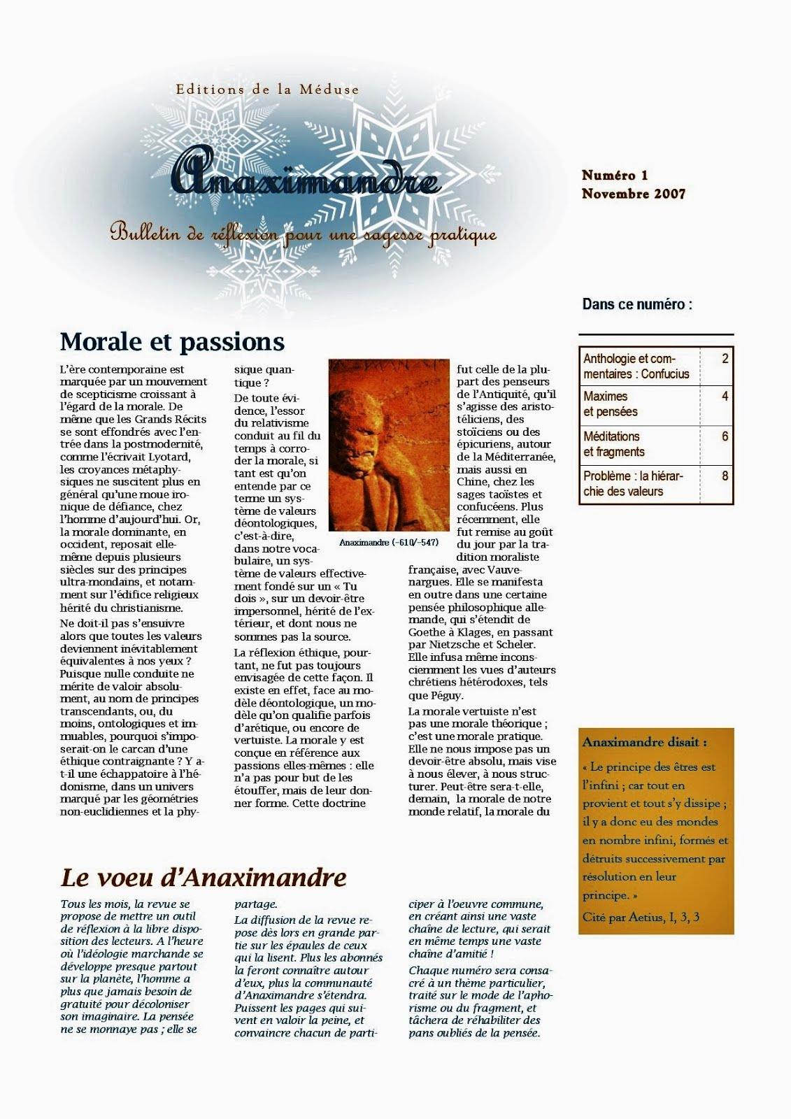 SAGESSE PRATIQUE: BULLETINS DE REFLEXION