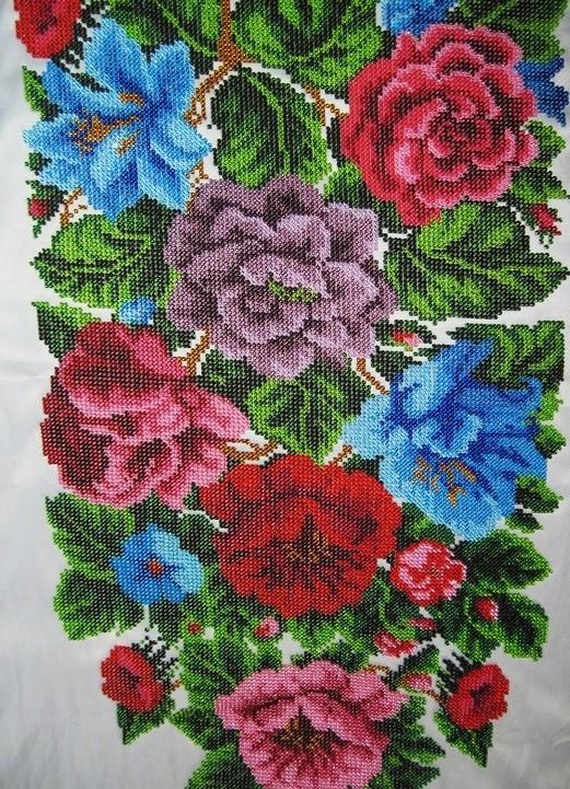 Вышивка бисером свежие розы от барвиста вышиванка 848