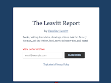 Subscribe to my newsletter The Leavitt Report