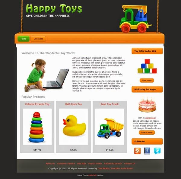 Happy Toys - Free Drupal Theme
