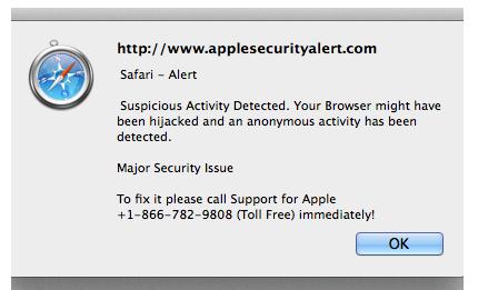Apple Safari Security Alert