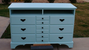 Robbin's Egg Blue Dresser  *SOLD*