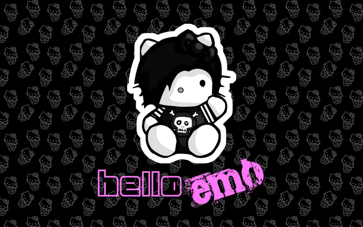 Emo Hello Kitty Wallpaper   Invitation Templates Design