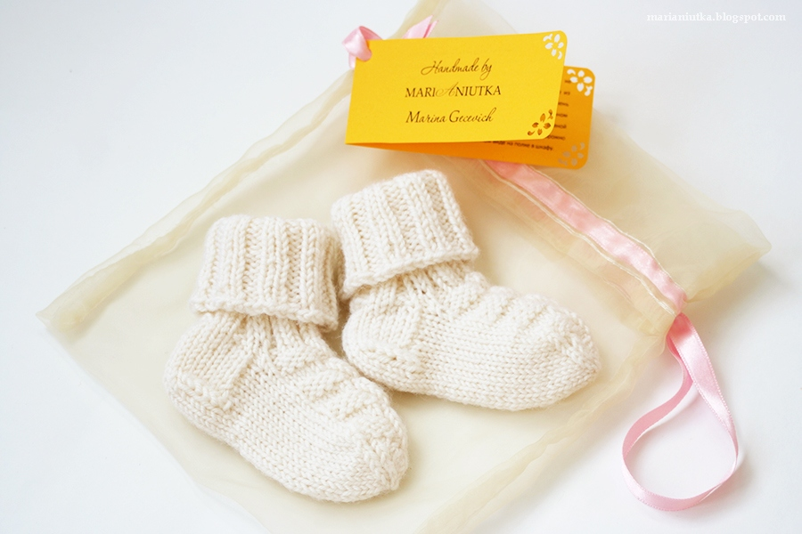 Вязание для новорожденных носки спицами 24
