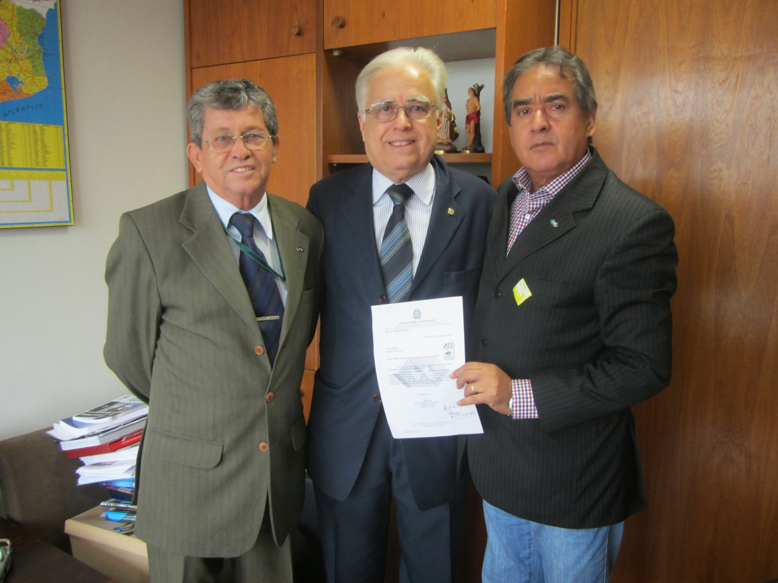 Com o Presidente do Conselho Federal de Administração e o Diretor de Fiscalização e Registro