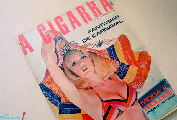 A cigarra: capa revista de moda antiga - anos 70