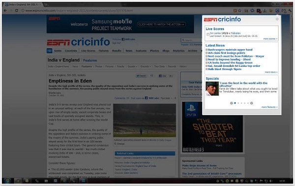 Chrome Extensions for Indian Premier League - IPL 2013