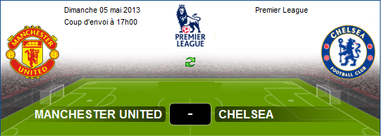 Manchester United vs Chelsea Premier League 05/05/2013