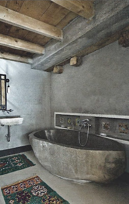 Bath, image via Marie Claire Maison Italy, edited by lb for linenandlavender.net