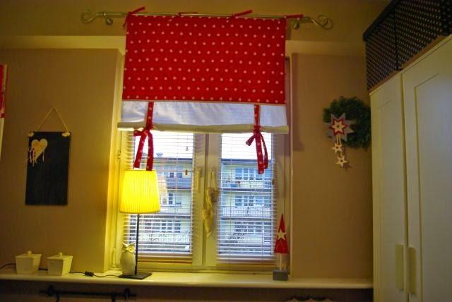 Roleta hand made, okno na Święta,